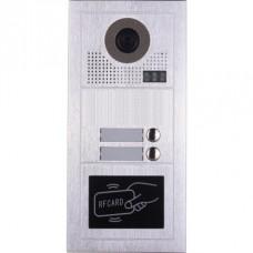Видеодомофонно табло 2 проводно, 2 абонат, RFID четец